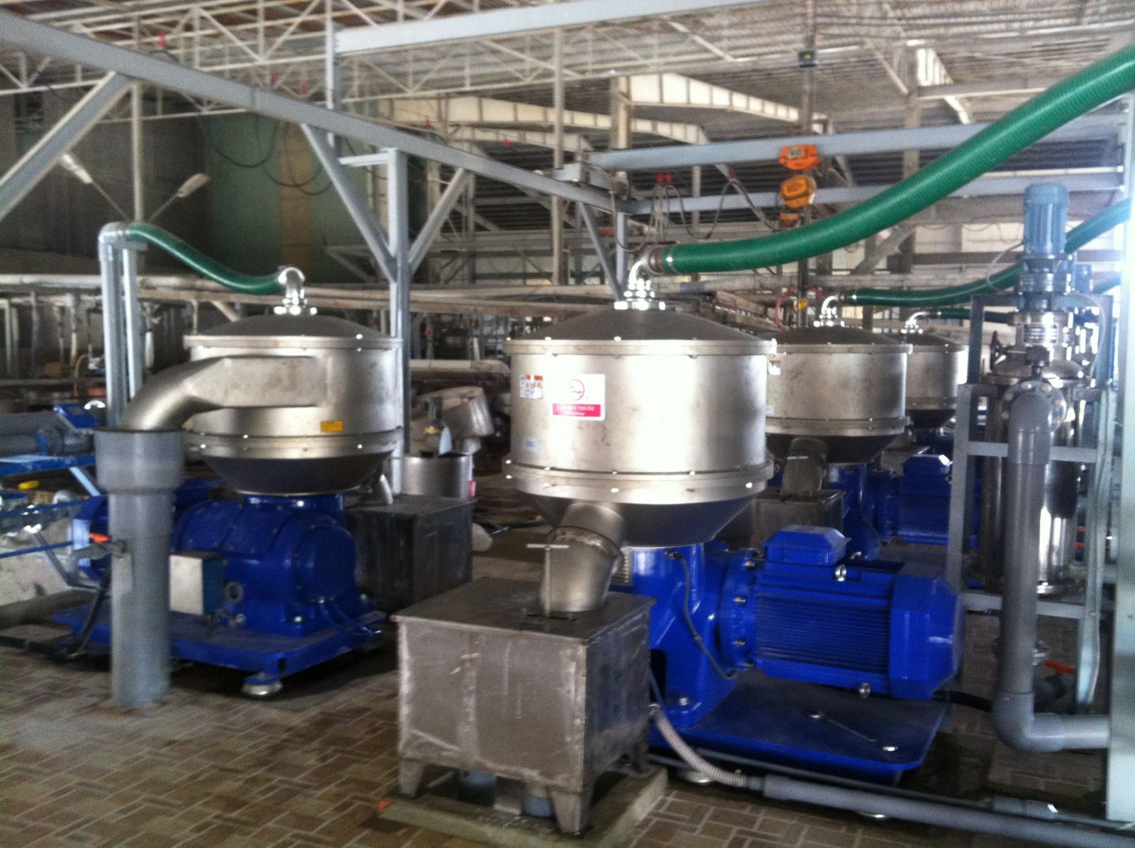 Presentation of TX-712B separator made by Alfa Laval (Sweden) for washing of tapioca starch